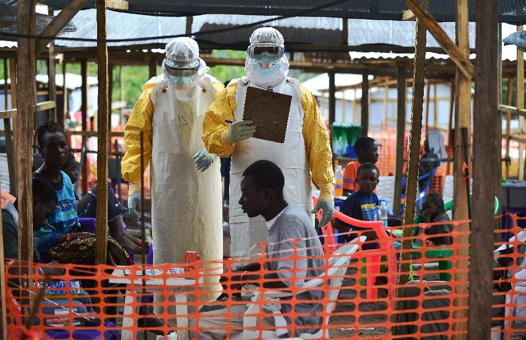 MSF medical workers at a facility for Ebola patients in Sierra Leone