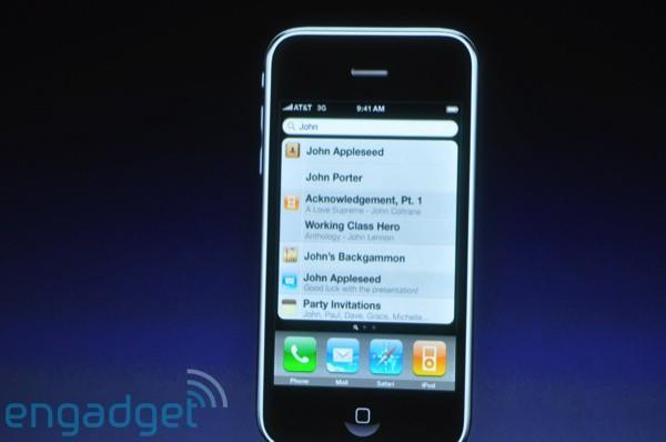 iPhone 3.0 features new homescreen with Spotlight search