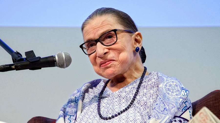 Ruth Bader Ginsburg 'feeling just fine' after fall