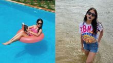 Sara Ali Khan Different Moods Once Become Gulabo In Swimming Pool