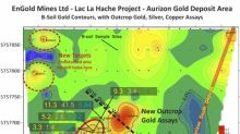 EnGold Assays Up to 25.6 gpt (0.82 opt) Gold at New Zone Near Aurizon South Deposit, Soil Results Reveal Seven Untested Gold Anomalies