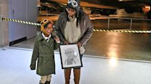 This girl's insistence to dress up as aviation pioneer Bessie Coleman led her to meet her idol's great niece