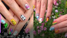 A nova regra da nail art é não combinar o desenho das unhas!