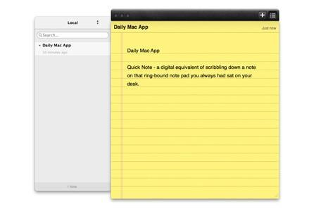 Daily Mac App: Quick Note