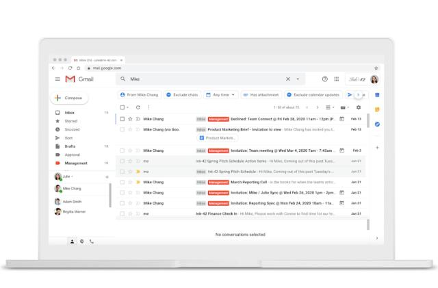 Gmail turns its inbox filters into clickable 'search chips'
