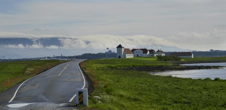 Johannesson appeared to be headed back to the president's 'Bessastadir' residence in Alftanes, Iceland (AFP Photo/Halldor KOLBEINS)
