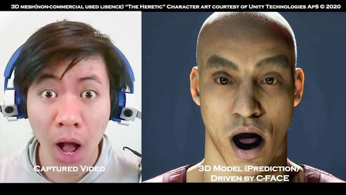 Facial expression tracking system C-Face