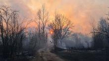 L'incendio vicino a Chernobyl ancora non è spento