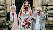 A woman asked her grandmothers to be her bridesmaids after limiting her wedding to just 15 guests