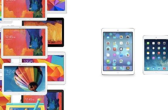 iPad vs. Samsung tablets visualized