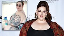 Tess Holliday responds to 'health concerns' over swimsuit photo: 'No one cares'