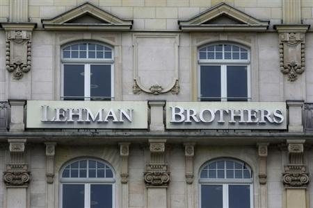 The Frankfurt branch of the Lehman Brothers bank is pictured in Frankfurt