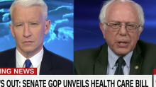 'This is barbaric': Bernie Sanders lambastes GOP healthcare bill