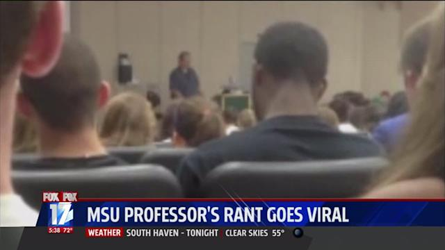 Professor Reassigned After Wild Rant Goes Viral