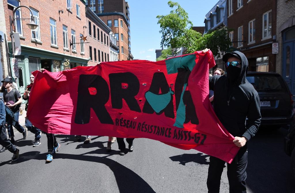 Protesters march in Quebec City as the G7 Summit gets underway