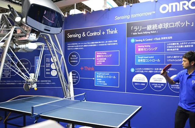 I played ping pong with a robot and it went easy on me