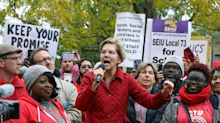 Elizabeth Warren Joins Striking Chicago Teachers To Voice Support For Unions And Schools