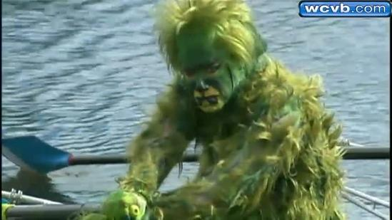 'The Grinch' spotted on Charles River