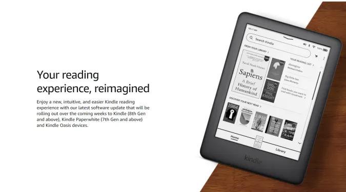 Amazon Kindle software update