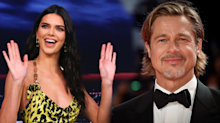 Kendall Jenner was too nervous to meet Brad Pitt at Kanye's Sunday Service