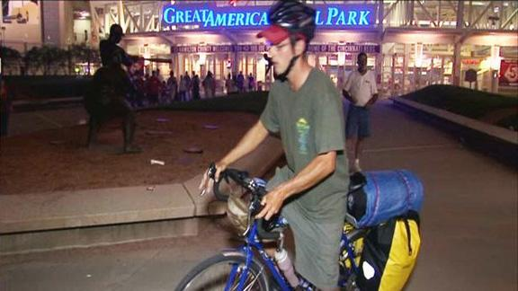 Man on mission to bicycle to every MLB stadium
