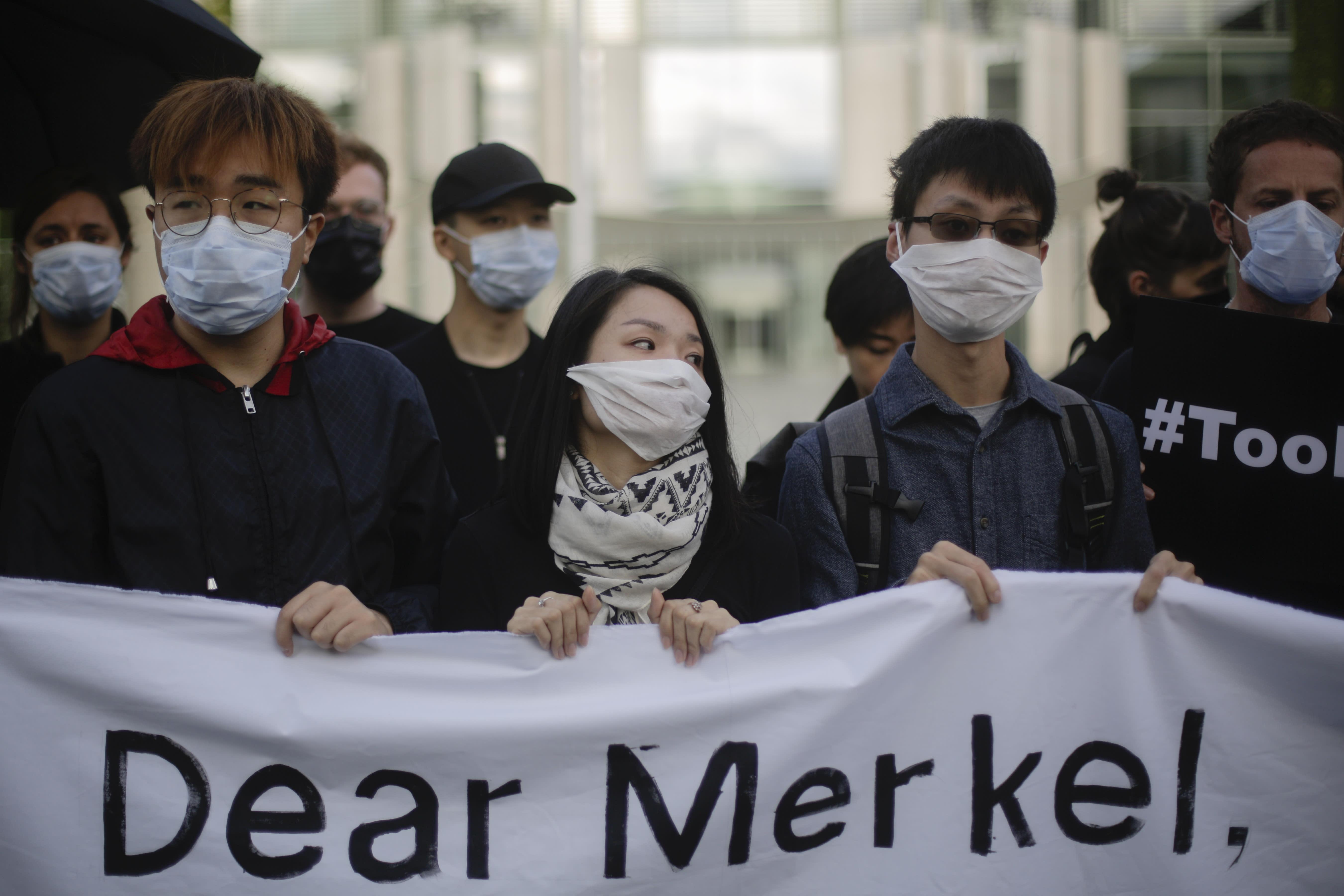 German Chancellor Angela Merkel says Hong Kong freedoms must be 'guaranteed'