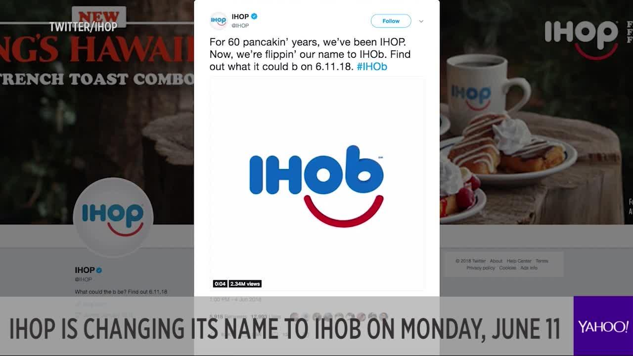 IHOP is changing its name to IHOb on Monday, June 11 [Video]