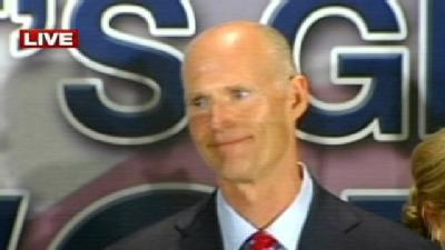 Scott Claims Victory In Governor's Race