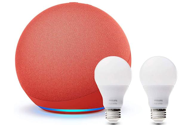 Get Amazon's latest Echo and two Hue bulbs for $80
