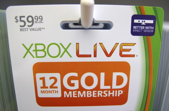 Microsoft stops offering 12-month Xbox Live Gold memberships
