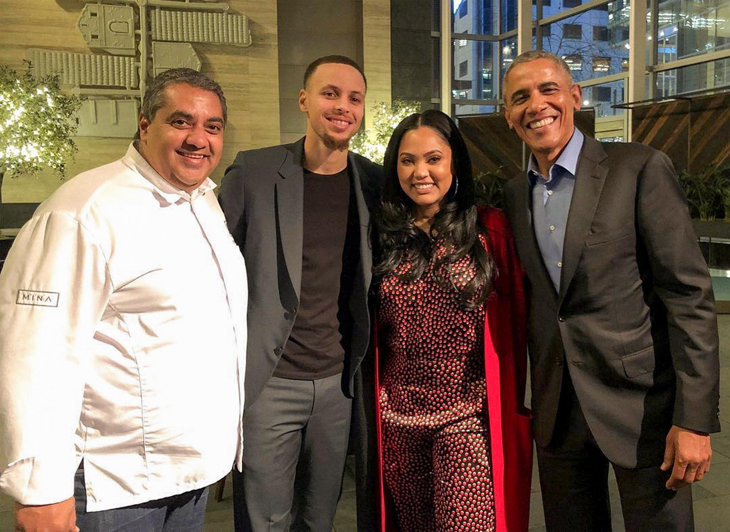 b14f7b97331 Barack Obama Dined at Ayesha Curry s San Francisco Restaurant—and Chrissy  Teigen Was There Too!