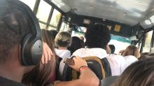 Photo of crowded school bus with kids 'wedged in like sardines in a can' goes viral