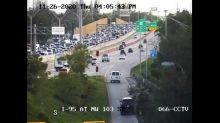 Multi-car crash closes northbound Interstate 95 Thanksgiving afternoon