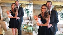 Lara Trump wears heels and an LBD one week after son's birth