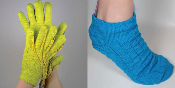 MIT CSAIL's smart clothes, including gloves and socks