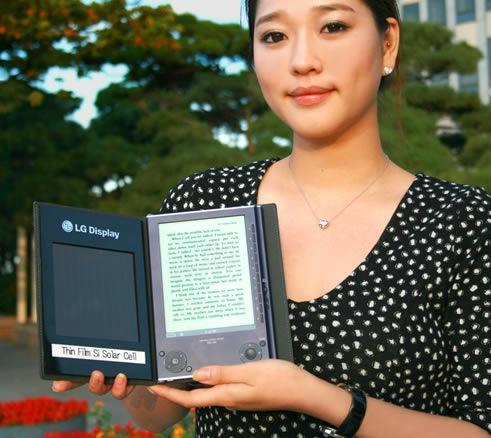 LG's Solar Cell e-Book goes an extra day for every 5 hours of sunlight