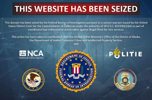 FBI shuts down 15 DDoS-for-hire sites