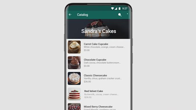 Product catalog in WhatsApp