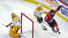 Hagel scores in OT as Blackhawks beat Predators 5-4