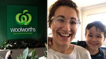 Woolworths delivery driver's 'heroic' act for locked-out mum