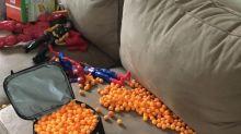 Así empaca un niño de 3 años su propio almuerzo