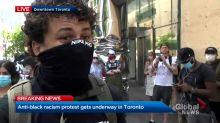Anti-Black racism protest underway in downtown Toronto