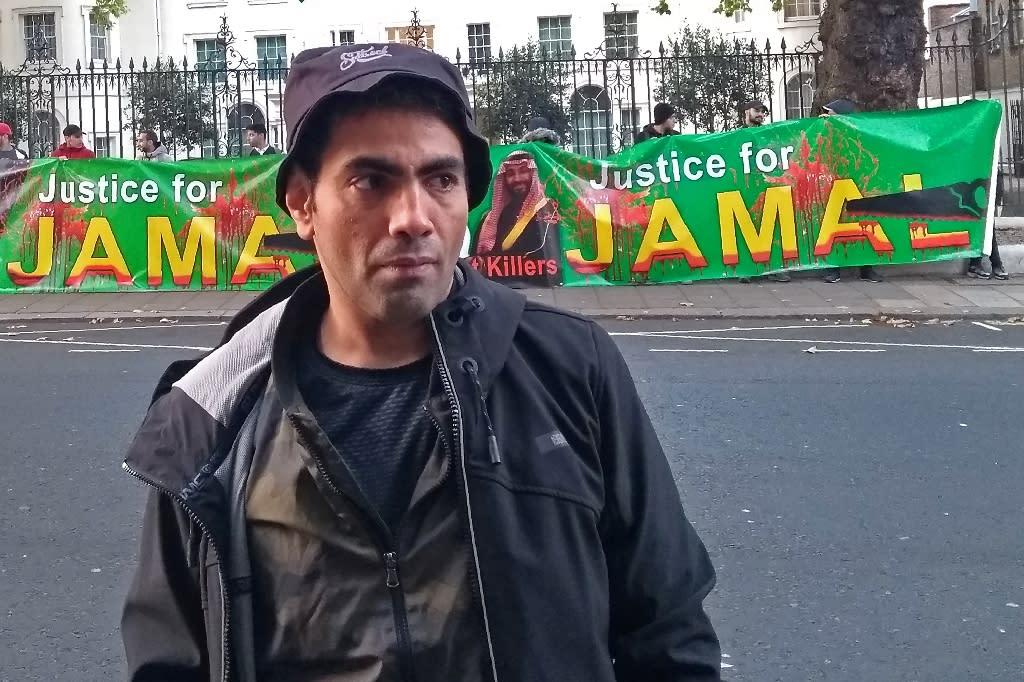 Saudi dissident satirist Ghanem Almasarir said he would not be intimidated into silence by the murder of Jamal Khashoggi, the journalist killed inside the Saudi consulate in Istanbul (AFP Photo/Robin MILLARD)