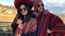 """Fátima Bernardes e Túlio Gadêlha curtem férias no Peru e pensam em """"adotar"""" lhama"""