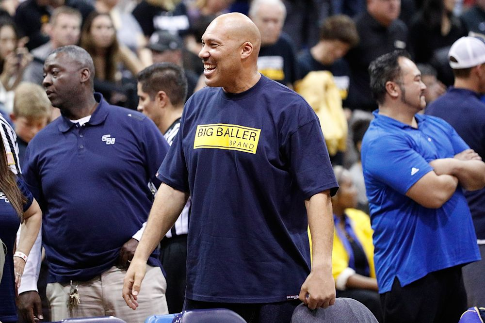 LaVar Ball is all about the Big Baller Brand. (AP)