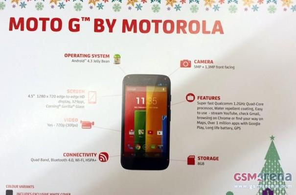 Moto G leak hints at entry-level, quad-core smartphone with a holiday launch