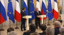 """Poutine """"regrette"""" l'annulation du sommet de Singapour, Macron """"espère"""" la reprise du dialogue"""