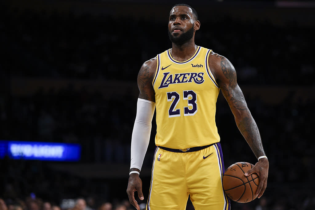 fcccafbf21e LeBron James Chooses Throwback-Inspired Kicks for His Los Angeles Lakers  Debut
