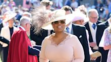 Oprah changed her dress because it was 'too white' and caught a bus to the royal wedding