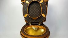 This is what a £15K Louis Vuitton loo looks like (in case you were wondering)